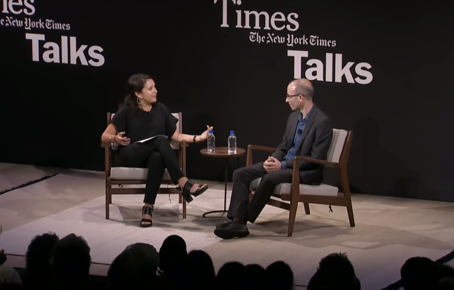 <p><span>TimesTalkes<br />5. September 2018<br />Harari in conversation with Bari Weiss of the New York Times</span></p>